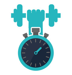 Chronometer weight barbell concept vector