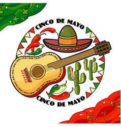 cinco de mayo day vector image