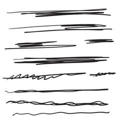 collection underline vector image