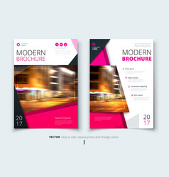 cover design for brochure flyer report catalog vector image