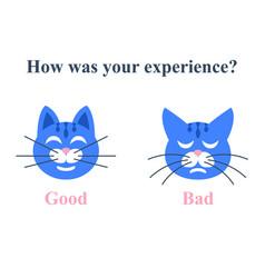 Customer satisfaction survey service assessment vector