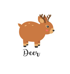 cute baby deer cartoon vector image