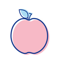 Delicious apple fruit taste icon vector