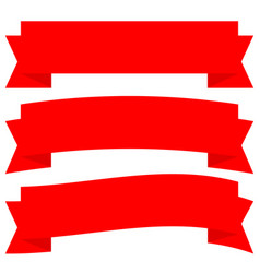 different horizontal banners in classic red vector image