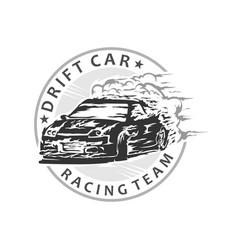Drift car racing vector