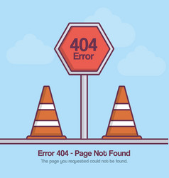 Error 404 design vector