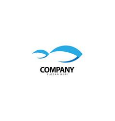 Fish logo design template icon vector