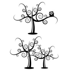 Floral filigree tree vector
