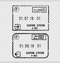 france tourist visa stamp vector image