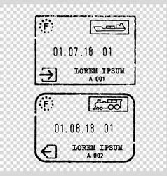France tourist visa stamp vector