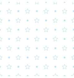 Geometric blue seamless pattern Stars vector