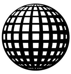 globe black symbol vector image