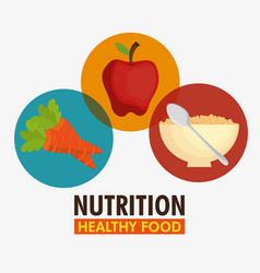 group of nutritive food icons vector image