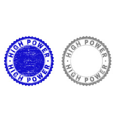 grunge high power textured stamp seals vector image