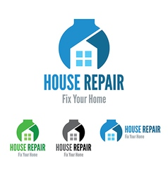 House repair company logo template vector
