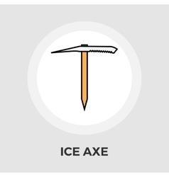 Ice axe flat icon vector image