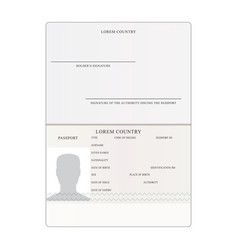 International passport people vector