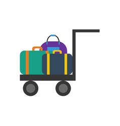 Luggage trolley vector