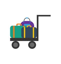Luggage trolley vector