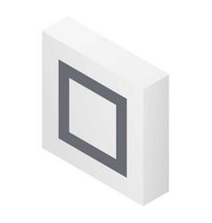 Mark square icon isometric style vector