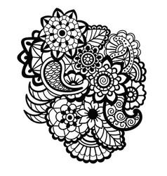 mehndi design floral pattern vector image