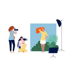 model photo session professional photographers vector image