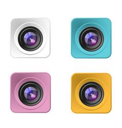 modern camera lens design vector image