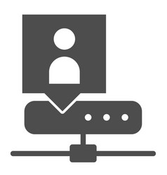 Network adminstrator solid icon server vector