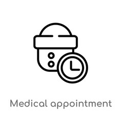 outline medical appointment icon isolated black vector image