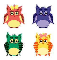 owls family vector image