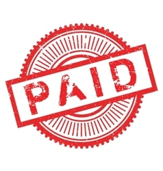 Paid stamp rubber grunge vector