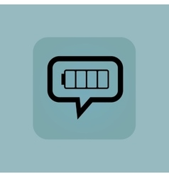 Pale blue empty battery message vector