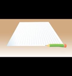 paper pencil test vector image
