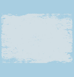 Pastel blue grunge textured background with border vector