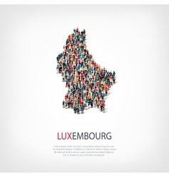 People map country Luxembourg vector