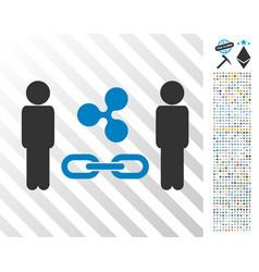 people ripple blockchain flat icon with bonus vector image