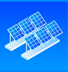 plant of solar panel icon isometric style vector image