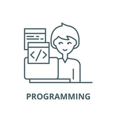 programming line icon linear concept vector image
