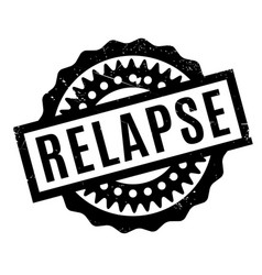 relapse rubber stamp vector image