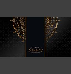 Royal black and gold mandala islamic background vector