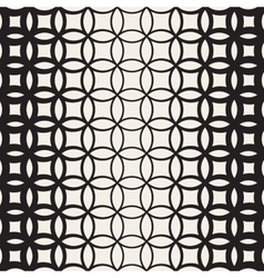 Seamless Black and White Circle Lattice vector image