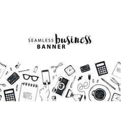 seamless horizontal banner business vector image