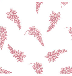 Seamless pattern with hand drawn pastel ginger vector