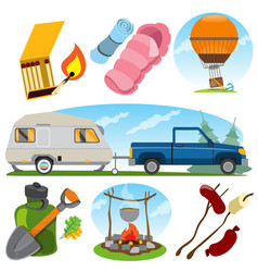 Set in the tourism theme color travel logos vector