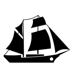Ship excursion icon simple black style vector