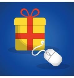 Shopping online concept gift internet vector