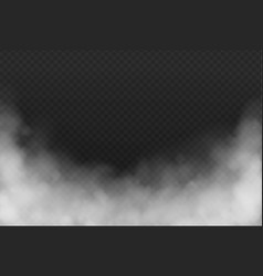 smoke or fog isolated transparent effect vector image
