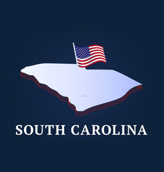 south carolina state isometric map and usa vector image
