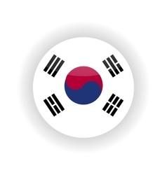 South Korea icon circle vector