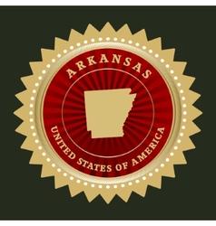 Star label Arkansas vector